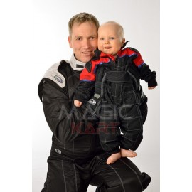 baby F1 suit black/red