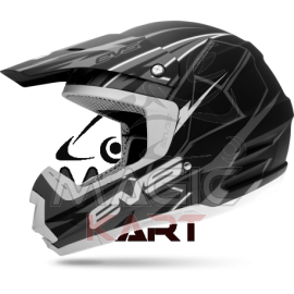 EVS CASQUE T5 BOLT / MATTE BLACK / GREY