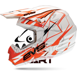 EVS CASQUE T5 BOLT / ORANGE / WHITE