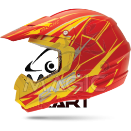 EVS CASQUE T5 BOLT / YELLOW / RED
