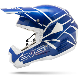 EVS CASQUE T5 NEON BLOCKS / BLUE