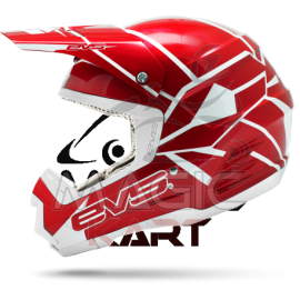 EVS CASQUE T5 NEON BLOCKS / RED