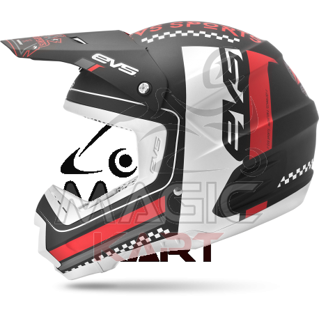 EVS CASQUE T5 RALLY BLACK / WHITE / RED
