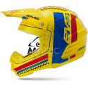EVS CASQUE T5 RALLY YELLOW / BLUE / RED