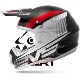 EVS CASQUE T5 VAPOR / BLACK / WHITE / RED