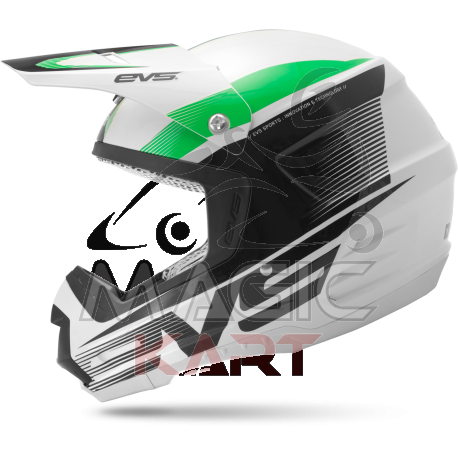 EVS CASQUE T5 VAPOR / WHITE / BLACK / GREEN