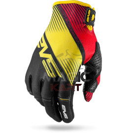 EVS GANTS PRO-GLOVE-VAPOR / BLACK/YELLOW/RED