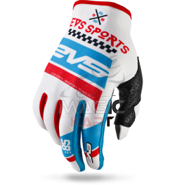 EVS GANTS SLIP-ON-GLOVE RALLY / WHITE/BLUE/RED
