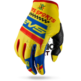 EVS GANTS SLIP-ON-GLOVE RALLY / YELLOW/BLUE/RED