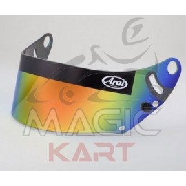 ARAI VISOR MIRRORED GOLD FIA-LABELED