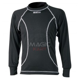 Sparco pullover karting black long sleeve