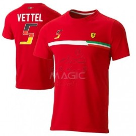 mens ferrari vettel tee red