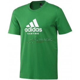 Adidas tee-shirt karting green