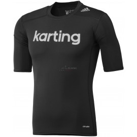 TECHFIT BASE SS TOP Karting negro