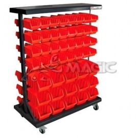 double side storage bin rack