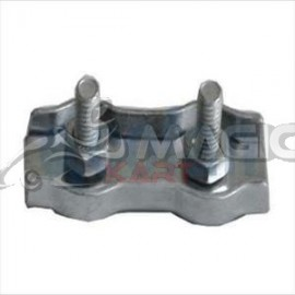 Double flat cable clamp