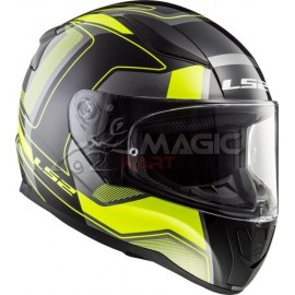 Helmet LS2 CARRERA black/yellow