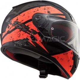casque LS2 DEADBOLT noir/orange