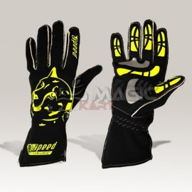 Speed gloves Melbourne G-2 black-neon yellow