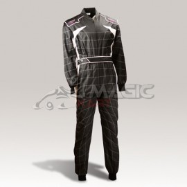 SPEED RACEWEAR Cordura Atlanta CS-2 traje negro / blanco