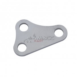 Turntable support plate adjustable left