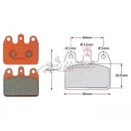 Rear brake pad set V05/V09/V11 orange CRG