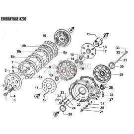 (7) Naked clutch release bearing TM