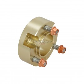 Extension for wheel hub, magnesium anodized