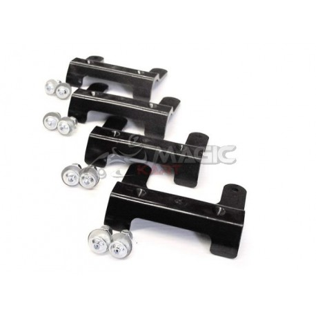 CHASSIS PROTECTOR SET 250x90mm, BLACK PLASTIC