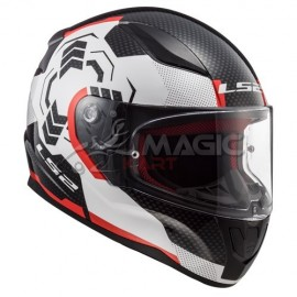 Helmet LS2 GHOST black/white/red