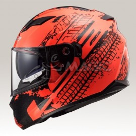 casque LS2 LAVA neon-orange/noir