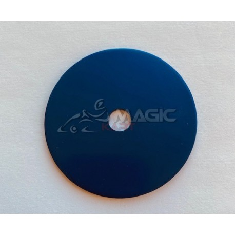 Aluminium washer, black anodized.